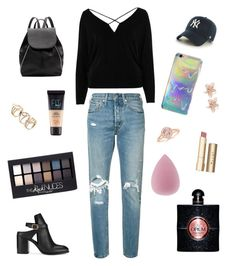 """Untitled #102"" by adyaniska on Polyvore featuring River Island, Levi's, Miss Selfridge, '47 Brand, Witchery, NAKAMOL, Maybelline, Stila and Yves Saint Laurent"
