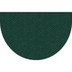 WaterGuard Diamonds Evergreen (Green) 24 in. x 39 in. Polypropylene Mat