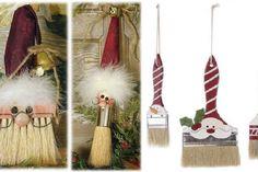 Bricoler des pinceaux pour en faire des Pères Noël! 20 Modèles à voir!