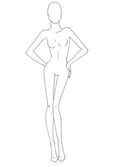 Fashion Drawing - Croqui / Template