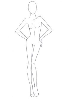 Fashion Drawing - Croqui / Template