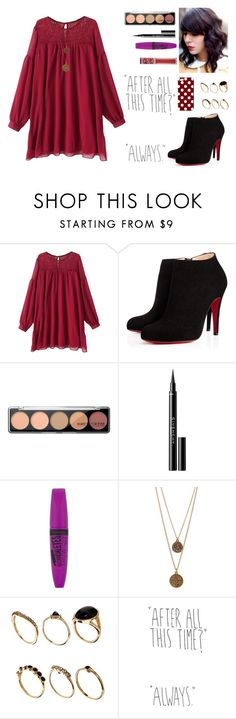 """""""after all this time."""" by thepearllesswonder ❤ liked on Polyvore featuring Christian Louboutin, Givenchy, Rimmel, Bee Charming and ASOS"""