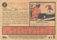 2011 Topps Heritage #46 Cole Hamels Back