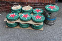 Heineken Keg Cushions