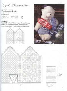 Photo from album Norske Luer - Norske Votter on Yandex.Disk - - Photo from album Norske Luer - Norske Votter on Yandex. Kids Knitting Patterns, Knitting Charts, Knitting For Kids, Knitting Projects, Baby Knitting, Crochet Patterns, Knitted Mittens Pattern, Knit Mittens, Knitted Gloves