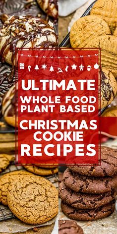 Whole Food Plant Based Holiday Cookie Recipes – Monkey and Me Kitchen Adventures We've gathered an ultimate list of Whole Food Plant Based Christmas Cookie Recipes that are healthy, delicious, and sure to make. Healthy Christmas Cookies, Healthy Cookies, Holiday Cookies, Christmas Food List, Vegan Christmas Desserts, Holiday Treats, Healthy Holiday Recipes, Holiday Cookie Recipes, Whole Food Recipes