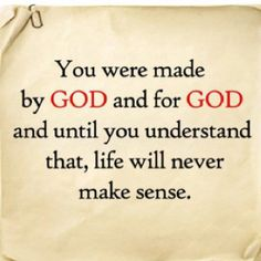 So true.  God will give your live purpose and direction.  www.PursuitOfJesus.org