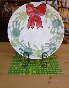 Handprint Wreath Pla