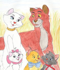 The Aristocats family portrait by greydeer2010 on deviantART
