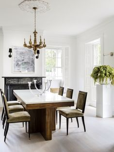 Home Decor Hallway Formal Dining Room at Governor's Summer House.Home Decor Hallway Formal Dining Room at Governor's Summer House Plywood Furniture, Furniture Design, Rooms Furniture, Furniture Ideas, World Of Interiors, Bamboo Dining Chairs, Dining Table, Dining Rooms, Greek Revival Home