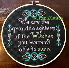 PATTERN Witch Cross Stitch We Are The Granddaughters of the