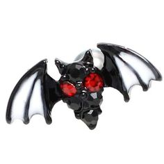16G Rare Red Eye Bat Body Piercing Jewelry 6mm, 16g (1.2 mm), Bars & Barbell #BodyJewelry