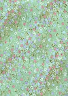 Japanese Yuzen Chiyogami Washi Paper (Floral Design A top quality sheet of beautiful Chiyogami Paper, ideal for invitations and Japanese Paper, Japanese Fabric, Japanese Prints, Pattern Paper, Pattern Art, Print Patterns, Washi, Diy Stationary Projects, Papier Diy