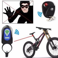 Bicycle Anti-theft Security Lock Remote Control Vibration Alarm