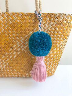 Pom pom Tassel Pompom Bag Bag Tassels Straw Bag Pompom Pom