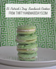 St. Patrick's Day Sandwich Cookies