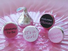 DIY Baby Shower Decorations | ... Hershey Kiss Stickers - Digital PDF File - DIY Baby Shower Favors
