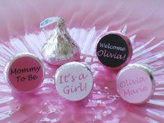 DIY Baby Shower Decorations | ... Hershey Kiss Stickers - Digital PDF File - DIY Baby Shower Favors