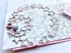 papierZART : rosenholz, Weihnachtskarte, Weihnachten, Alexandra Renke Designpapier,  Glöckchen, Sterne, Advent