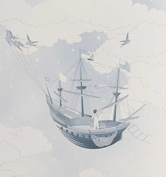 Merle, Star Wallpaper, For Stars, Sailing Ships, Boat, Clouds, Fishing, Friday, Etsy