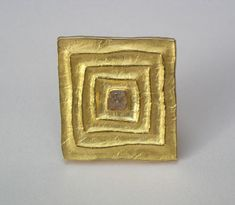 Alexandra Brachtendorf (1967-) - Brooch. 18K Gold with Rough Diamond. Germany, Circa Late-20th to Early-21st Centuries.