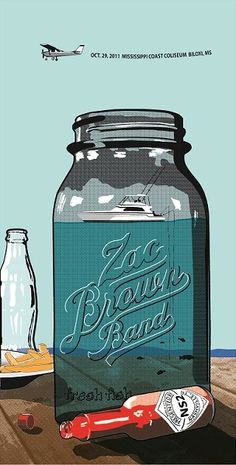 Zach Brown Band gig poster by Seth Deitch Concert Posters, Music Posters, Gig Poster, Rock Posters, Band Posters, Kinds Of Music, My Music, My Favorite Music, My Favorite Things