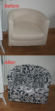 cr er une housse du fauteuil ikea tullsta avec son tissu brico appart mu pinterest. Black Bedroom Furniture Sets. Home Design Ideas