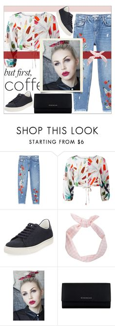 """""""."""" by mnjoudeh ❤ liked on Polyvore featuring MANGO, Mara Hoffman, Anya Hindmarch, Lulu in the Sky and Givenchy"""