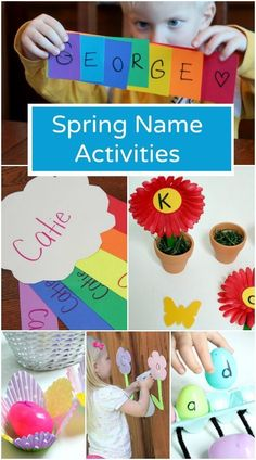 Spring Name Activities – Fantastic Fun & Learning – The Ankle Biters – art therapy activities Preschool Names, Art Therapy Activities, Preschool Learning Activities, Spring Activities, Preschool Art, Kindergarten Activities, Fun Learning, Kindergarten Names, Weather Activities