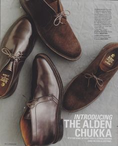 "The Alden Chukka for J. Crew  ""CHUKKA BOOTS, founded in Massachusetts by Charles H. Alden in 1884, the Alden Shoe Company is now in its fourth generation and is the oldest shoe- and boot maker remaining in New England, USA."""