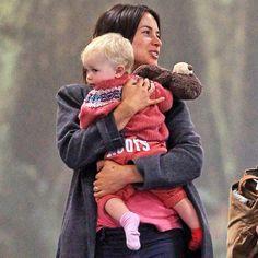 Amelia Dornan with baby Dulcie Jamie Dornan Jamie Dornan, Dulcie Dornan, Christian Grey, Baby Photos, Amelia, Actors, Cute, Books, Instagram