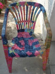 Decopatch garden chair.