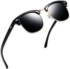 944fc2de8b Joopin Semi Rimless Polarized Sunglasses Women Men Brand Vintage Glasses  Plaroid Lens Sun Glasses (Brilliant Black Frame Grey Lens)