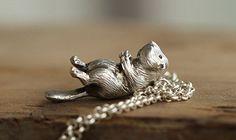 Handmade 3D Silver Beaver Pendant, Silver Lovely Beaver Pendant, Anniversary, Birthday, Christmas, Gift