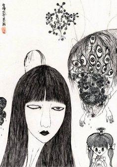 Japanese Artist Daisuke Ichiba's Intricate Drawings Interweave The Disturbing And The Grotesque