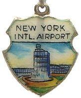 New York Intl Airport JFK Silver Travel Shield Charm   eBay