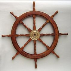 "36"""" Nautical Wood Ship Wheels"