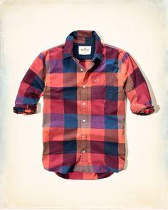 cbfedfdf Guys Shirts | Clearance | Hollister Co. Tartan ShirtPlaid ShirtsMen's  ShirtsCasual ...