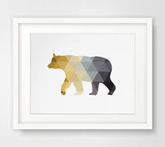 Forest Animals Tree Artwork Bears Forest by MelindaWoodDesigns Mustard Yellow Decor, Mellow Yellow, Mustard And Grey Bedroom, Tree Artwork, Tree Wall Art, Forest Animals, Woodland Animals, Yellow Nursery, Nursery Grey