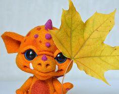 Needle felted little dragon Sunny