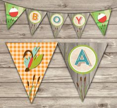 fishing banner baby shower party decor rustic theme by cardmint