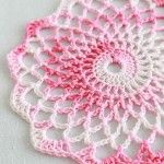 Doily (Free Pattern). If you make a simple double crochet increase round for the back it would make a lovely potholder/trivet. (free pattern)