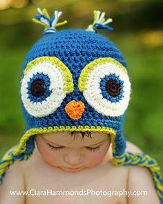 Ravelry: Owl Earflap Beanie pattern by Inner Hooker