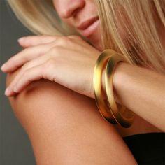Kenneth Jay Lane Goldtone Slip On Bangle Bracelet