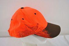 Pheasant Wildlife Series  Hunter Orange Baseball Cap Adjustable Back #WildlifeSeries #BaseballCap