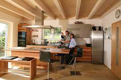 Küche aus massiver Elsbeere