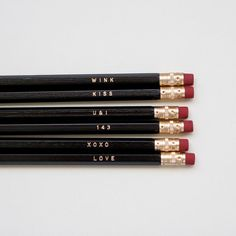 K.C. Crew:  simple love  engraved pencil set by one fine dae by onefinedae, $12.00