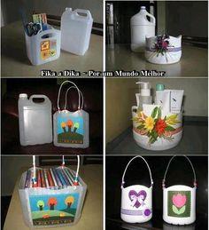 artesanato organizadores galão de limpeza faça você mesma arte design..hum