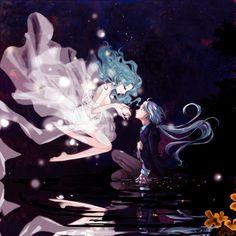 「【夜みち】ゆらゆら光るあなたの音」/「きなこ」のイラスト [pixiv]
