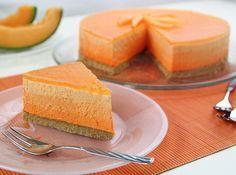 Ombre cheesecake al melone